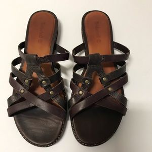 Timberland Brown Leather Sandals